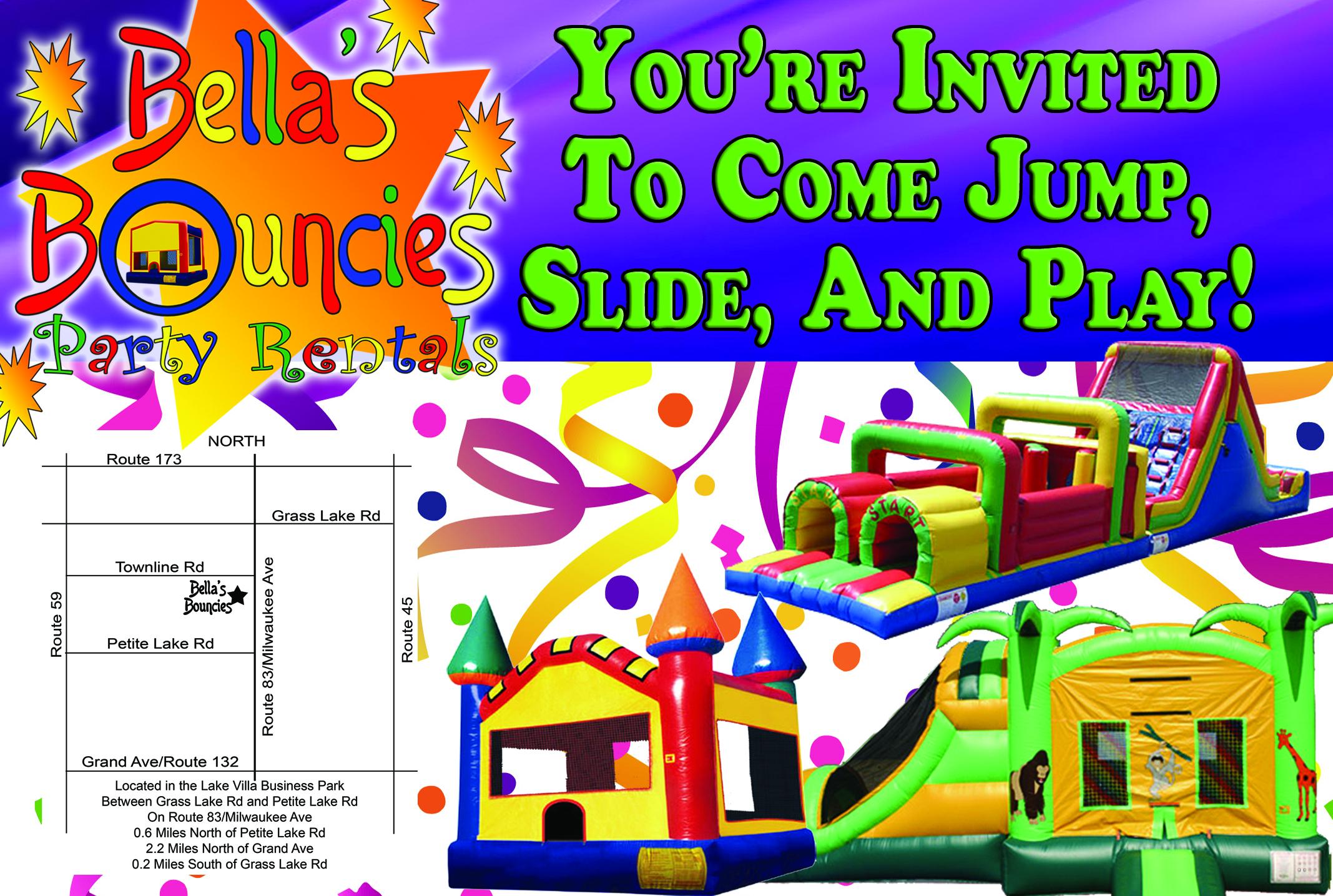 bounce house invitation